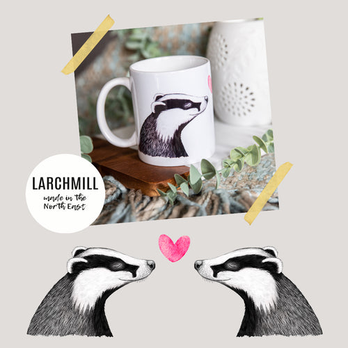 Badgers in Love Mug