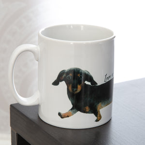DACHSHUND stretch mug personalised