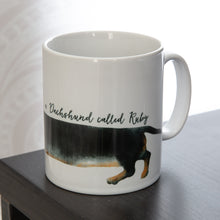 Load image into Gallery viewer, DACHSHUND stretch mug personalised