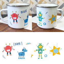 Load image into Gallery viewer, Kids Robot Enamel Mug