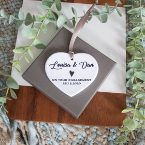 Engagement Wedding Heart ornament