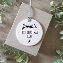 Load image into Gallery viewer, babies first christmas ornament
