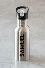 Load image into Gallery viewer, Waterbottle Personalised Silver