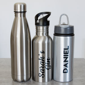 Waterbottle Personalised Silver