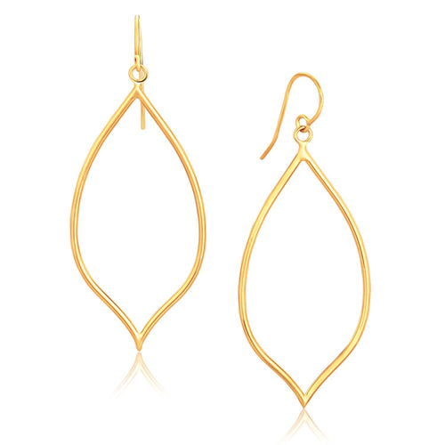 14k Yellow Gold Marquise Style Polished Earrings