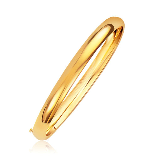 Classic Bangle in 14k Yellow Gold (6.0mm), size 7''