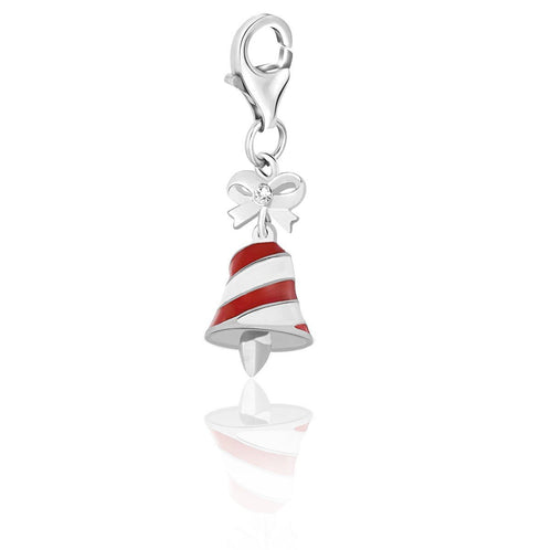 Sterling Silver Multi Color Enameled Bell Charm