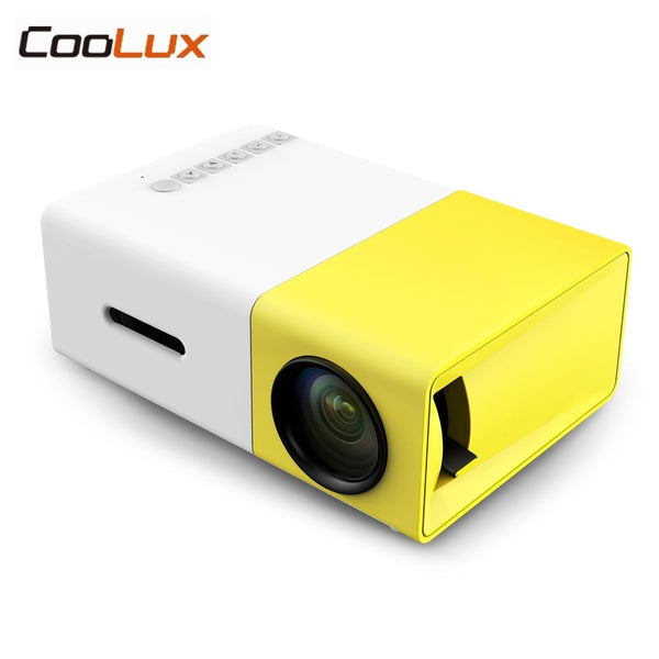 Coolux YG300 YG-300 Mini LCD LED Projector 400-600LM 1080p Video Home Projector-Home Projectors-Eclipse High Tech