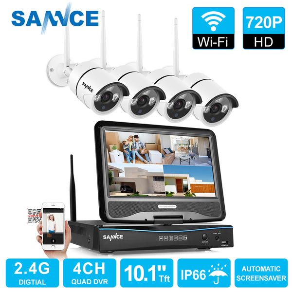 4 Channel Wifi 720P IP camera CCTV Wireless Camera System - 1TB HDD Available - Eclipse High Tech
