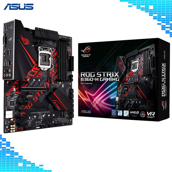 Asus ROG STRIX B360-H GAMING Desktop Motherboard Intel B360 LGA 1151 E-sports Game Main board-Computer Accessories-Eclipse High Tech