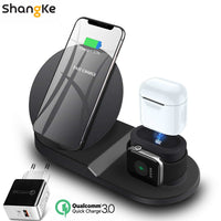 Shangke Wireless Charger Stand for iPhone AirPods Apple Watch-Phone Chargers-Eclipse High Tech
