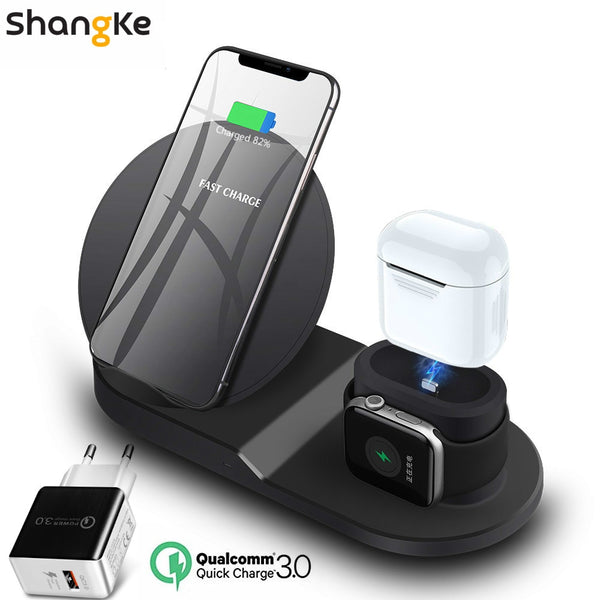 Shangke Wireless Charger Stand for iPhone AirPods Apple Watch - Eclipse High Tech
