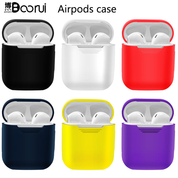 BOORUI Soft Silicone Case Airpods Shockproof Cover - Eclipse High Tech