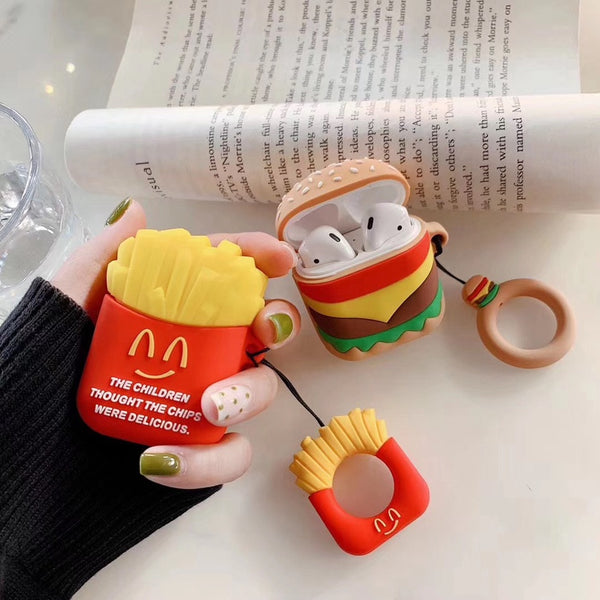 3D Cartoon Earphone/Airpods Cases with Finger Ring Strap - Eclipse High Tech