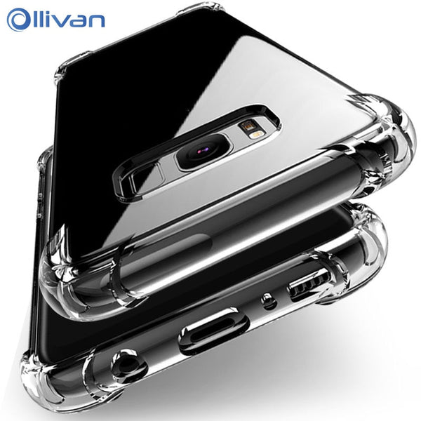 Shockproof Clear Silicone Case For Samsung Galaxy S7 edge A5 A7 J5 J7 2017 S8 S9 S10 Plus Note 8 9 A6 A8 Plus A7 2018 A50-Phone Accessories-Eclipse High Tech
