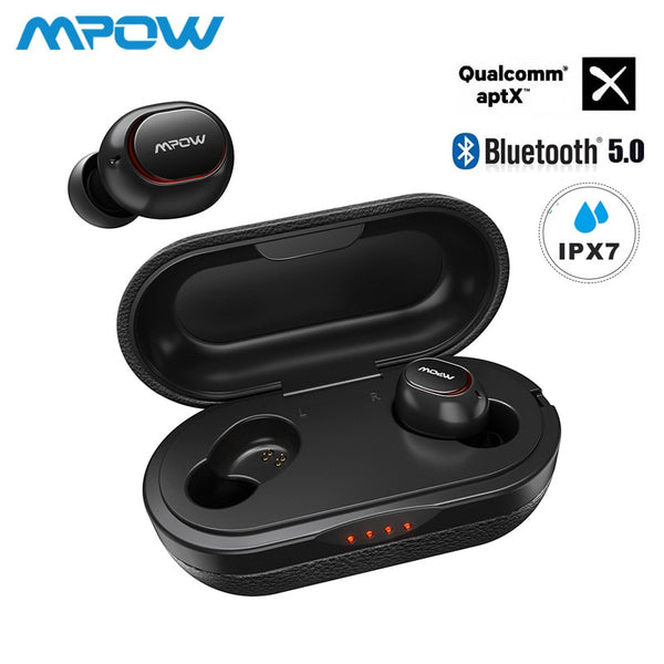 Mpow Waterproof Wireless Earbuds Bluetooth 5.0 - 36 hour Playing Time - Eclipse High Tech