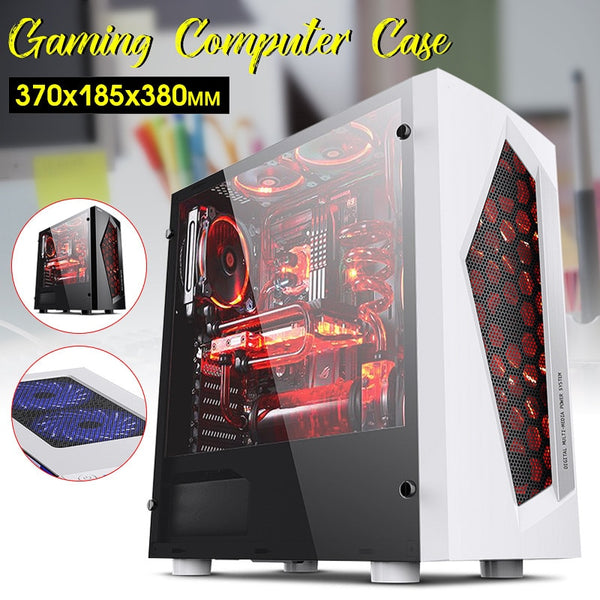 LEORY V3 ATX Computer Gaming PC Case 8 Fan Ports USB 3.0 For M-ATX/Mini ITX Motherboard Black/White - Eclipse High Tech