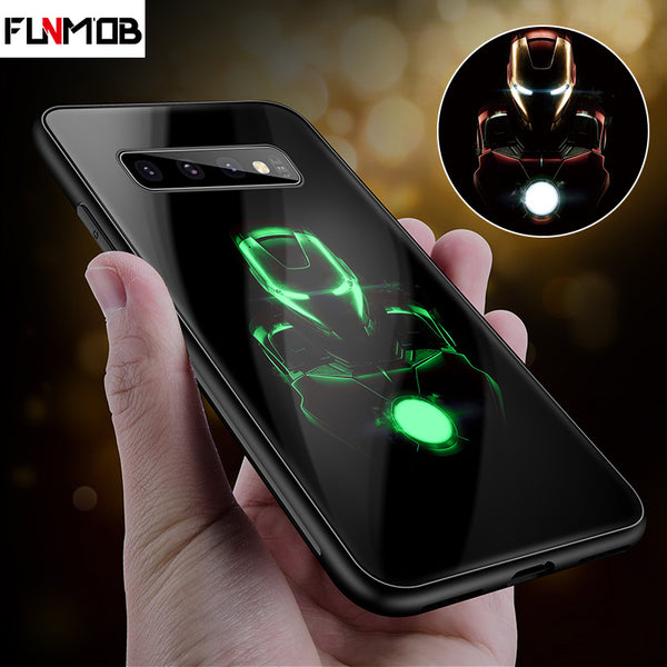 Luxury Luminous Tempered Glass Phone Case Samsung Galaxy - Marvel-Phone Accessories-Eclipse High Tech