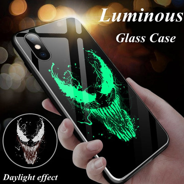 Luminous Glass Phone Case For iPhone - Marvel-Phone Accessories-Eclipse High Tech