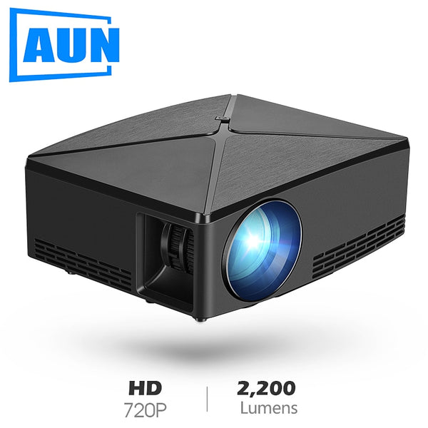 AUN MINI Projector C80 UP, 1280x720 Resolution LED Portable-Home Projectors-Eclipse High Tech