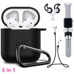 5 in 1 Silicone Accessories For AirPods - Eclipse High Tech