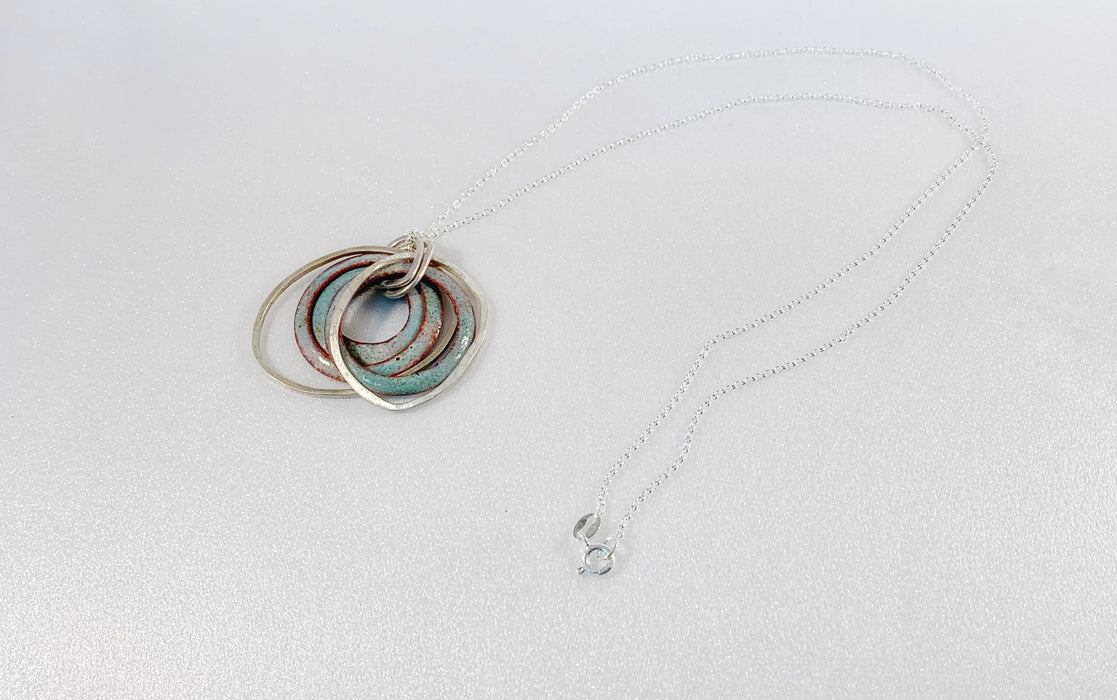 LAYERED ENAMEL NECKLACE