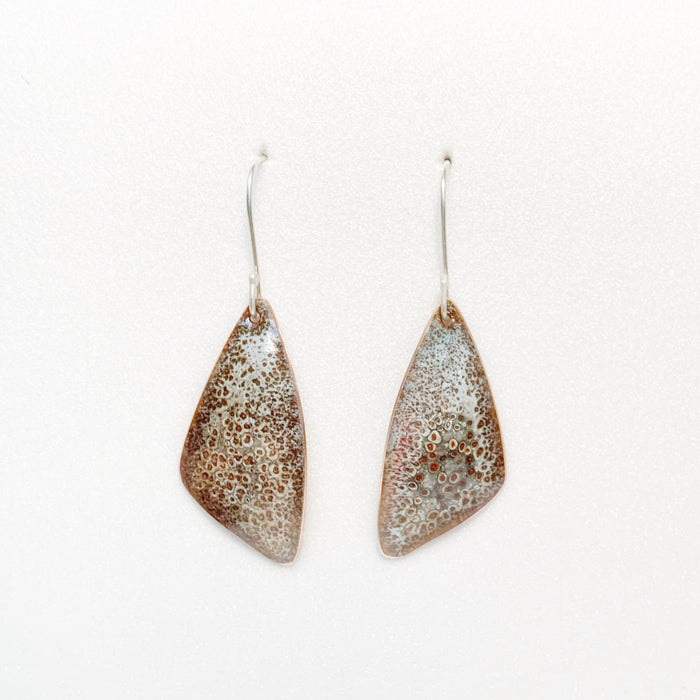 WING EARRING - speckled grey