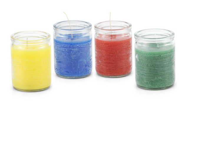 3 day candles available in 11 colors