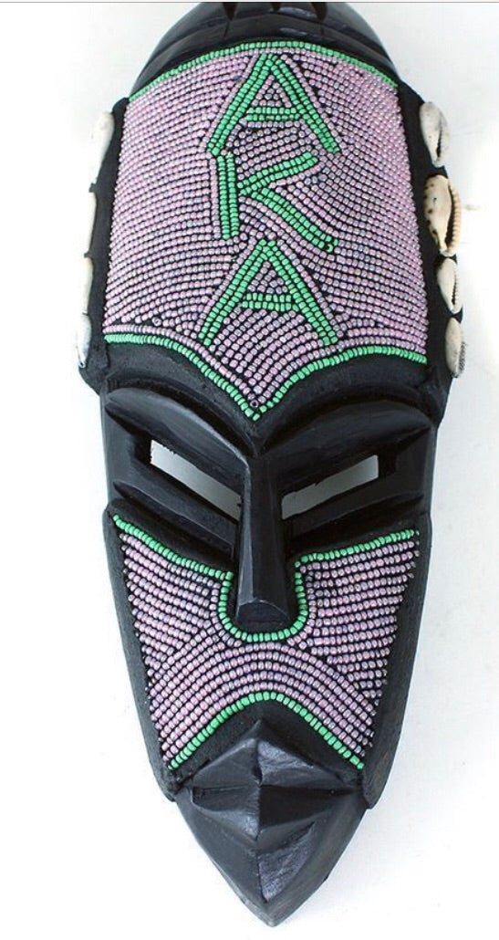 Sorority and fraternity African mask