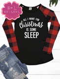"""All I Want For Christmas"" Graphic Tee (M, LAST TWO)"