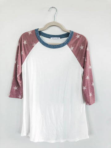 Star Sleeved Raglan-T (XL, LAST ONE)