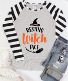 """Resting Witch Face"" Graphic Tee (S&3XL)"