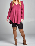 Raspberry Sweater Tunic (2XL, LAST ONE)