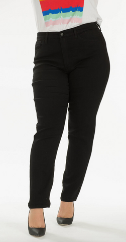 KanCan Solid Black High Waist Skinnies (5/26 & XL)