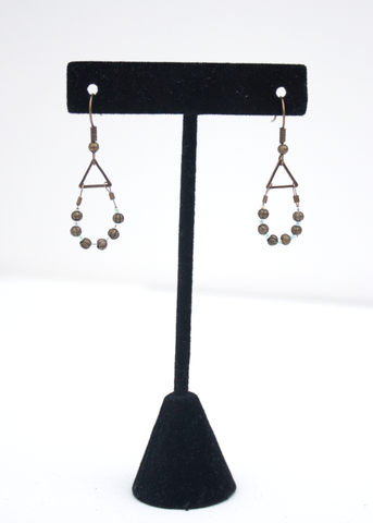 Dainty Beaded Hoop Earrings (ONLY 1 IN EACH COLOR)