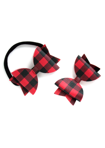 Buffalo Plaid Bow Headbands (LAST 5)