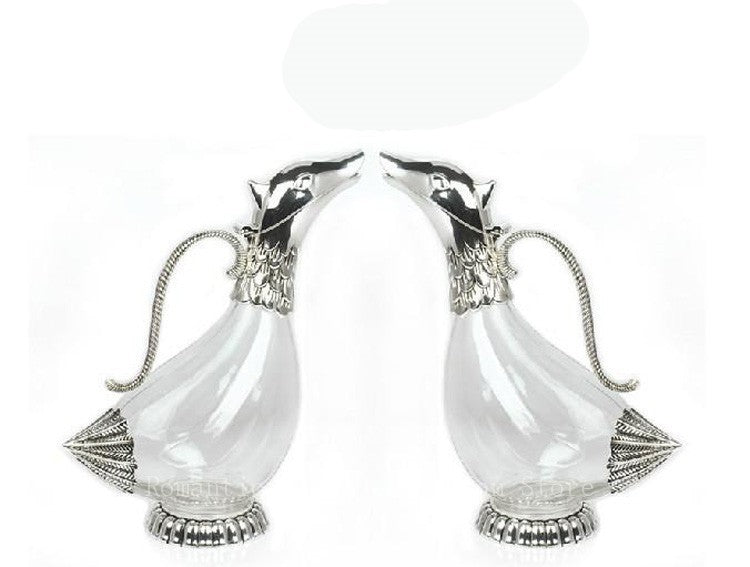 Silver plated metal glass decanter creative