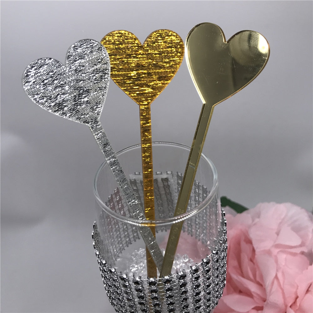 Cards Etched Acrylic Drink Stirrers