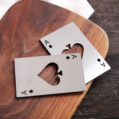 Stainless Steel Playing Card Bottle Opener,