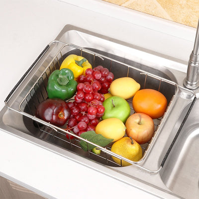 Vegetables Drain Rack Adjustable Sink