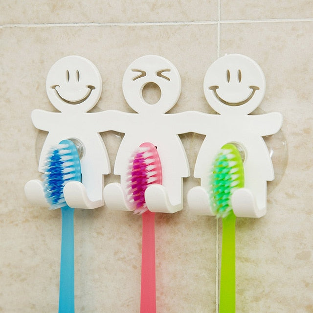 Bathroom Kitchen Smiling Face Toothbrush