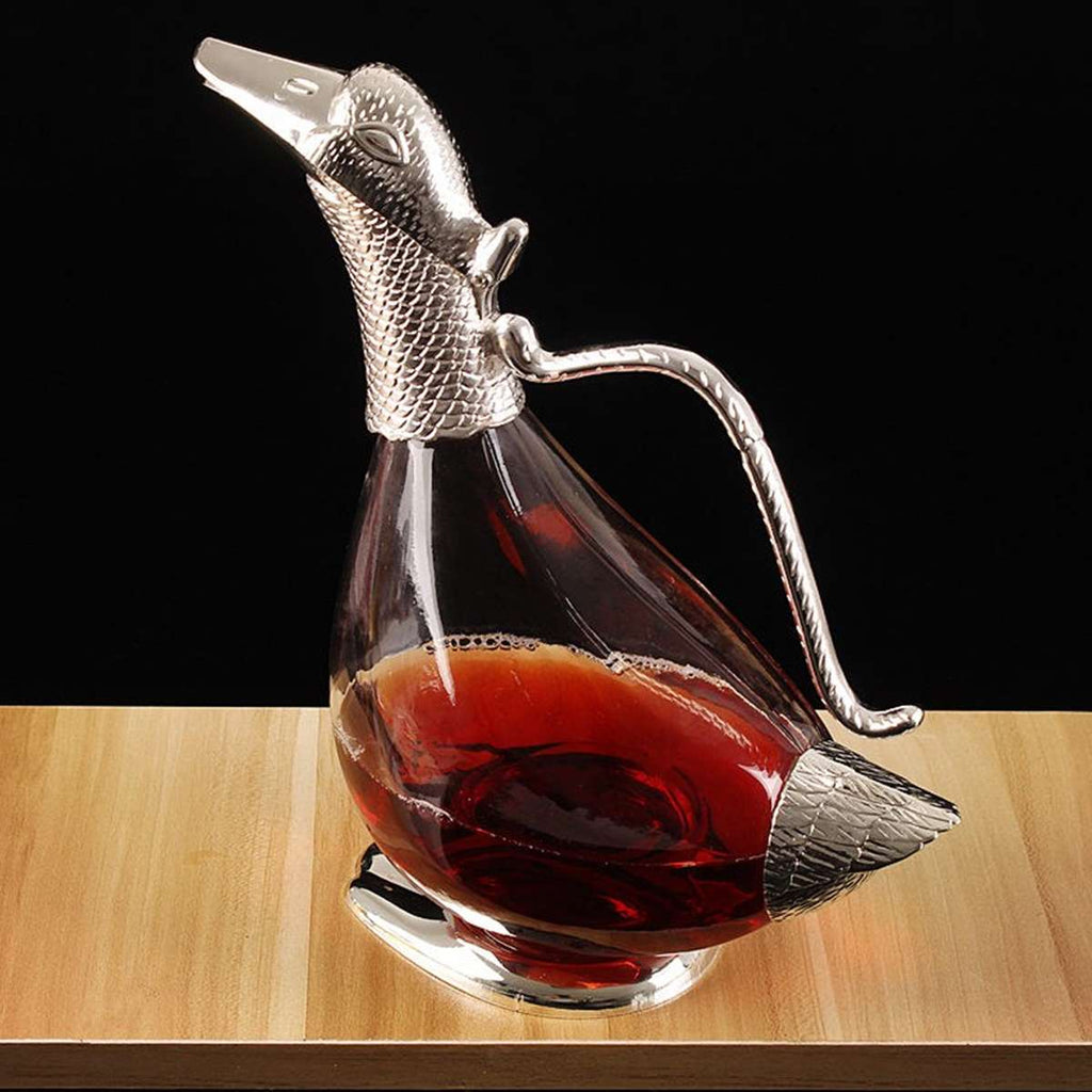 Duck Wine Decanter Red Wine Silver