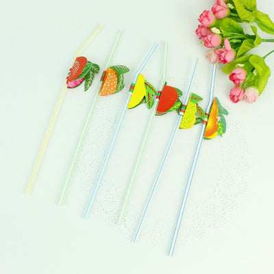 Fruit Decorated Straws Disposable