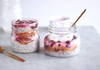 coconut chia seed pudding with tart cherries