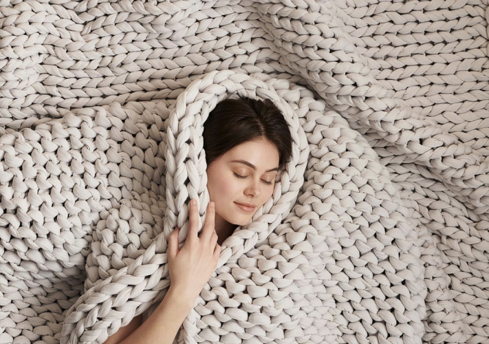 girl in cocoon