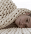 girl with a blanket
