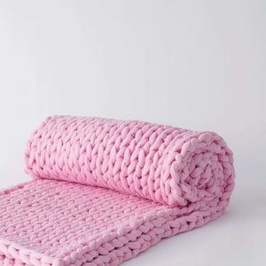 Bearaby knit blanket dreamy pink