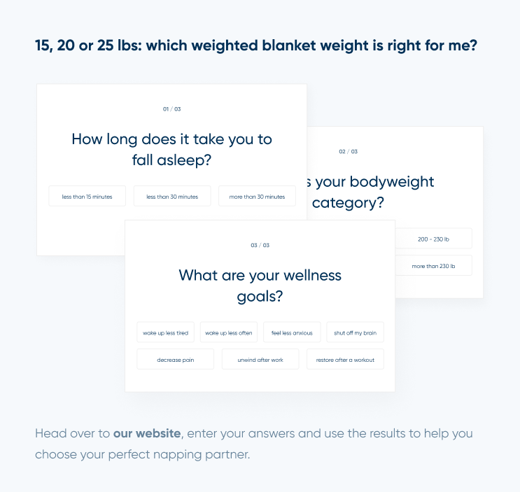 What weighted blanket weight is right for me?