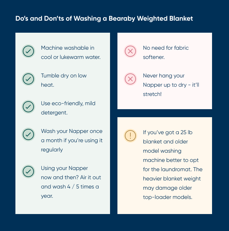 Do's and Don'ts of washing Bearaby Napper