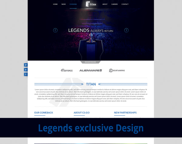 Legends eSport Design